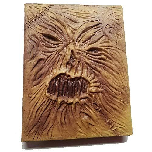 Necronomicon Livro Prop filme de terror Wiccan Spellbook Grimoire Lovecraft Cthulu Couro Látex Halloween Hocus Pocus Livro de feitiços Decoração Fantasia Caderno, Full Book of Spells, 8.5-x-11-Inch, 1