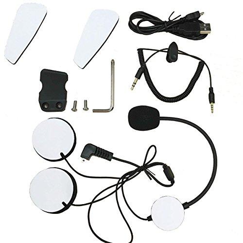 Accesorios intercomunicador. Veetop Accesorios para Casco/ Intercomunicador moto; Auriculares con microfono, Cable...
