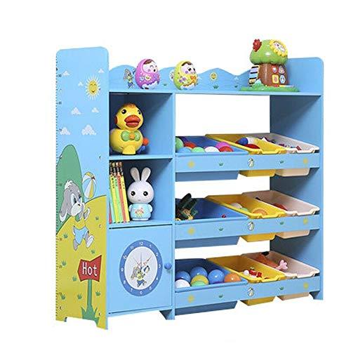 Organizador de Juguetes Organizador de Juguetes con Bins de Almacenamiento de niños  Conjunto de Muebles de Moda para niños pequeños para Niños (Color : Blue, Size : One Size)