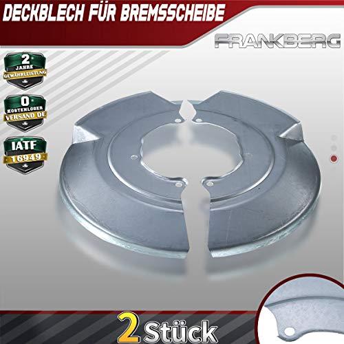 2x Deckblech Spritzblech Ankerblech Bremsscheibe Vorne Links Rechts für Transporter 4 Bus Kasten 1990-2003 7D0407343A