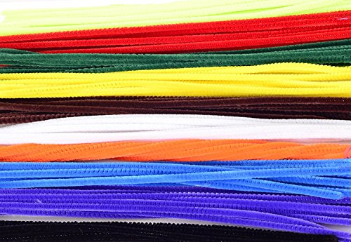 """Ziggle50 Pcs Multicolored 12"""" Normal Stem Craft Pipe Cleaners"""