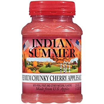 Indian Summer Chunky Cherry Applesauce 23 Ounce  Pack of 6