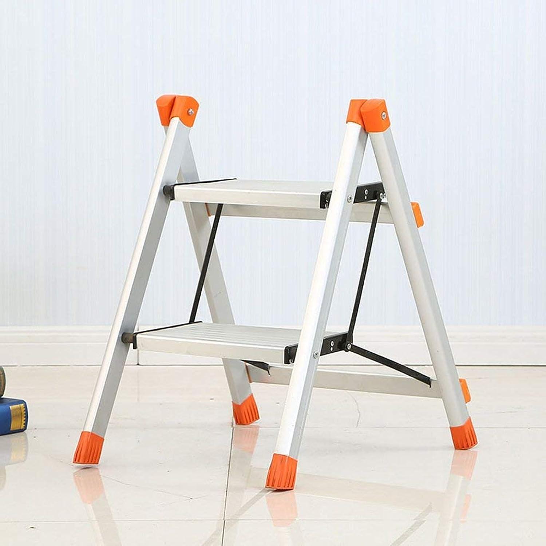 JZX Step Stool, Two-Step Ladder, Aluminum Folding Frame
