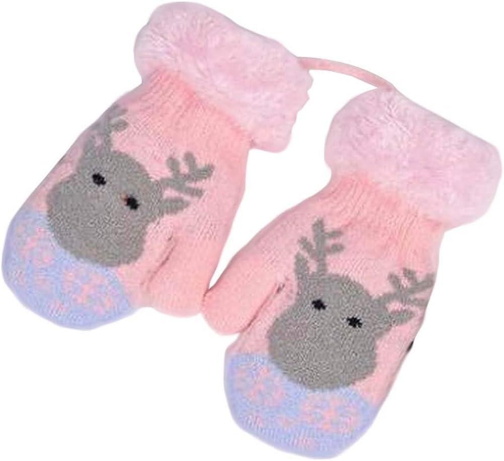 Lovely Knitted Baby Mittens Warm Winter Children Mittens Baby Gloves #14