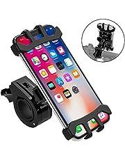 【2019最新版】自転車ホルダー バイク スマホ ホルダー 360度回転 脱着簡単 取り外し可能 脱落防止 振れ止め GPSナビ 携帯 固定用 マウント スタンド シリコン 4-6.5インチのスマホに対応 iPhoneX iPhone8/7/6Plus iPhone8/7/6 HUAWEI Android等多機種対応 18ヶ月品質保証