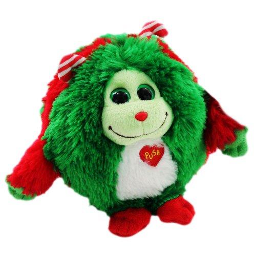 Ty Monstaz Holly -  Beanie Weihnachts Kuschel Monster 15 cm - rot grün