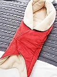 Wallaboo Couverture Enveloppante Nore, Polaire extra douce, Daim Microfibre, Multi-Usages - pour Coques Bébé/Sièges Auto/pour Landaus/Poussettes ou Lits Bébé 85 cm x 85 cm 0 - 12 Mois Couleur Rouge