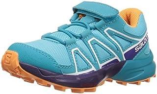Salomon Unisex-Kids Speedcross Bungee K Trail Running Shoe Blue Curacao 10.5K M US Little Kid [並行輸入品]