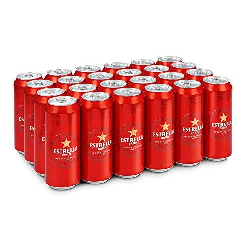 Estrella Damm Cerveza - Paquete de 24 x 500 ml - Total: 12000 ml