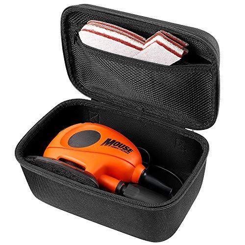 Custodia compatibile per Black+Decker KA161BC Mouse Levigatrice dettagliata con accessori, nero