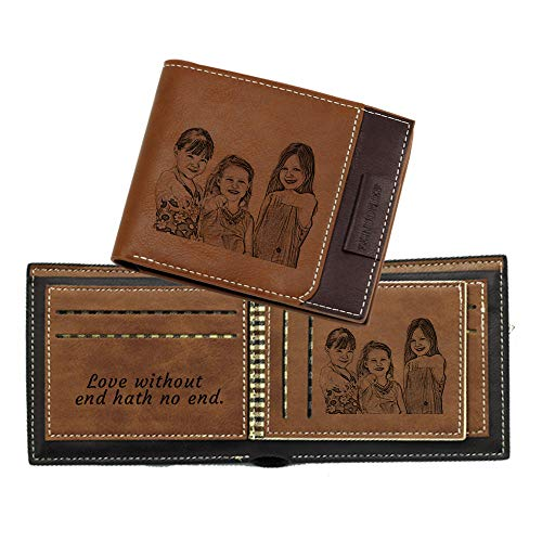 Custom Engraved Photo Wallet, Personalized Photo...
