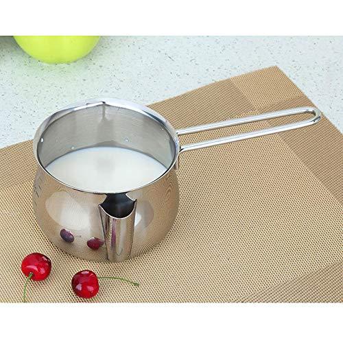 POIUCVXC 1 Pza 800 ml Mantequilla de acero onoxidabele salsa de chocolate sartén de calefacción fundida olla para hornear sartén de salsa