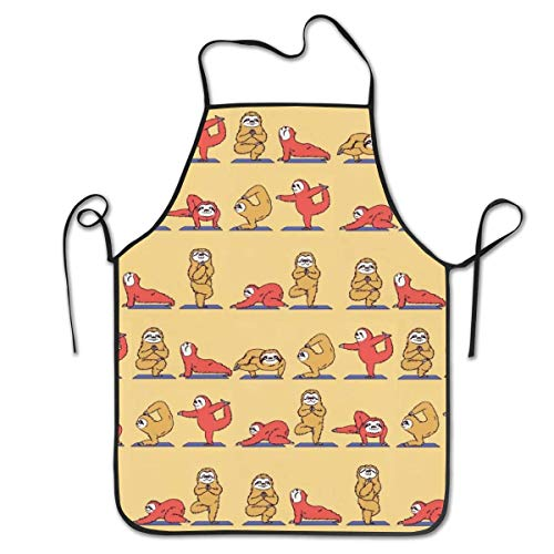 Schürze/Kochschürze/Küchenschürze/Grillschürze/Wasserdicht Latzschürze Adjustable Baby Bear Doing Yoga Chief Apron Home Easy Care For Kitchen, BBQ, And Grill