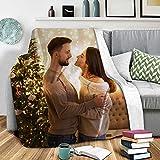 Mantas de Franela con Foto Personalizada   Manta Personalizada de Sofá Cama para Otoño Invierno   Regalo Personalizado para Familias Amigos Padre Madre en Navidad 76 x 102cm