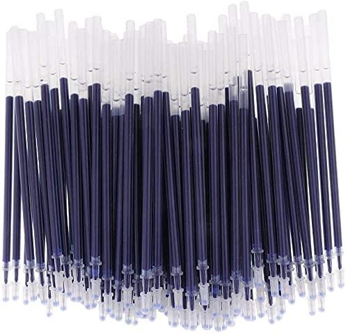Weimay 100pcs Gel Pen Refills 0.5mm Ink Gel Pen Refills for Needle Tip Liquid Gel Pen/Rollerball Gel Ink Pen - Needle Tip Blue