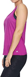 Rockwear Activewear Women's Stripe Performance Top Cranberry 6 from Size 4-18 for Singlets Tops