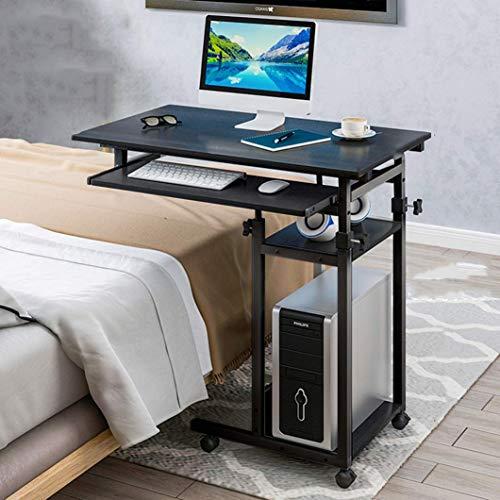 Mobiler Laptop-Computertisch mit Tastaturablage verstellbarer Schreibtischarbeitsplatz am Bett PC-Schreibtisch mit Rädern