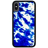 Wildflower Limited Edition Cases Compatible with iPhone X and XS (Blue Tie Dye)