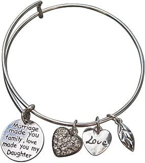 Daughter in Law Bangle Bracelet- Daughter in Law Gifts- Daughter in Law Jewelry for Daughter in Laws