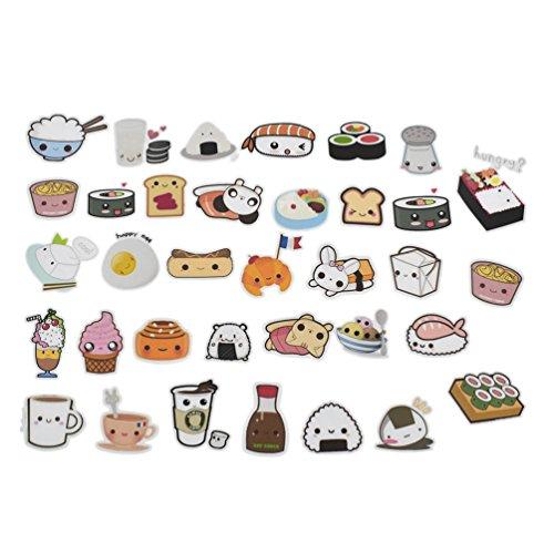 Cute Food Stickers Cartoon Cake Tea Diary Scrapbooking Labels Decorative Tags