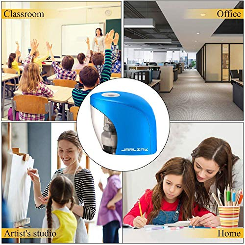 Pencil Sharpener,Electric Pencil Sharpener for NO.2 Pencils and Colored Pencils,Portable Automatic Electric Sharpener Feature for Home/School/Classroom/Office,USB or 2AA Batteries BLUE Photo #4