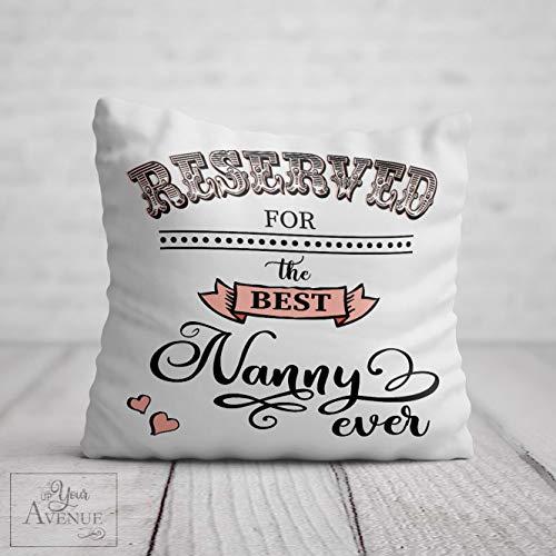 RESERVED FOR NANNY Cushion for Nan Best Nanna Granny Pillow Grandma Birthday Gift Nana Mothers Day Present Nannie Gran