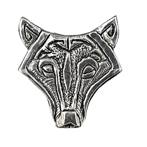 Antique Pewter Celtic Wolf Pin G027