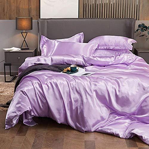 Bedding-LZ -Summer Love Anti-Silk Powder Bordado de Gama Alta de Seda de Seda de Seda de Seda de Seda de Seda con Seda de Cuatro Piezas-R_Cama de 2.0m (4 Piezas)
