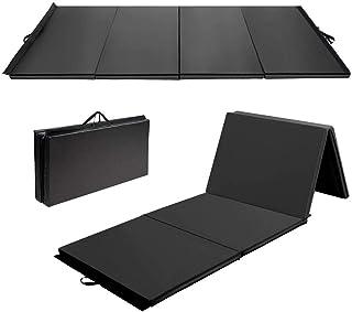 Large 3x1.22mx5cm Gymnastics Gym Folding Exercise Mat Extra Thick High Density (Black)