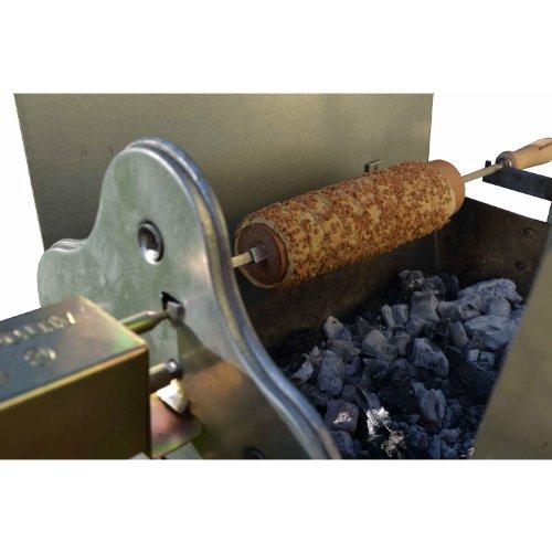 EPOS Baumstriezel Holzkohle Spießgrill 50 x 32 cm + Grillmotor