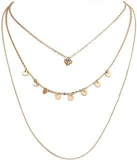 687484af78b99 Toporchid Simple Necklace Collier en Cristal Multicouche superposé à un  collier pour les femmes