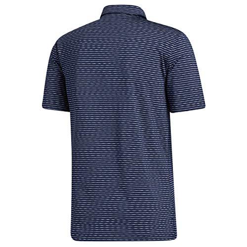 adidas Golf Mens Ult365 Space-Dye Polo Shirt - Col Navy/White/Blue - XL