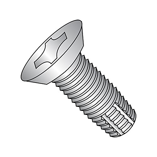 Black Oxide Finish #10-24 Thread Size 82 Degree Flat Head Type F 1 Length Pack of 100 Phillips Drive Steel Thread Cutting Screw
