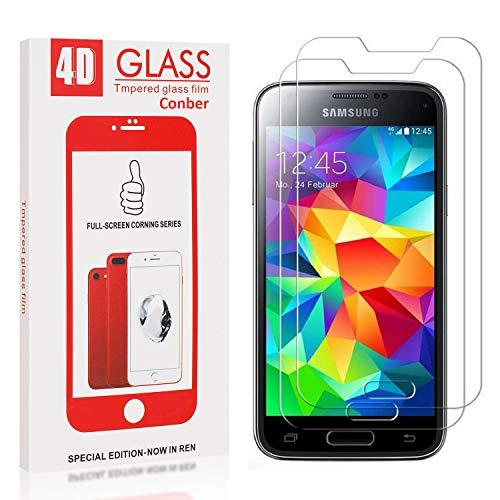 Conber [2 Stück] Displayschutzfolie kompatibel mit Samsung Galaxy S5 Mini, Panzerglas Schutzfolie für Samsung Galaxy S5 Mini [9H Härte][Hüllenfreundlich]