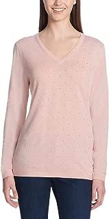 Jeans Ladies' Rhinestone Embellished Sweater