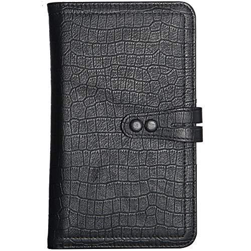 Mens Rfid Blocking Leather Travel Passport Holder Wallet Long Folio Ducument Credit Card Cases Organizer Bifold Wallet New Black
