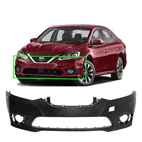MBI AUTO Rear Bumper Cover Replacement for 2016 2017 2018 Nissan Sentra 16 17 18 Primered NI1100312