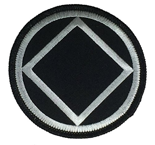 NARCOTICS ANONYMOUS SYMBOL NA PATCH - Black/White - Veteran Owned Business
