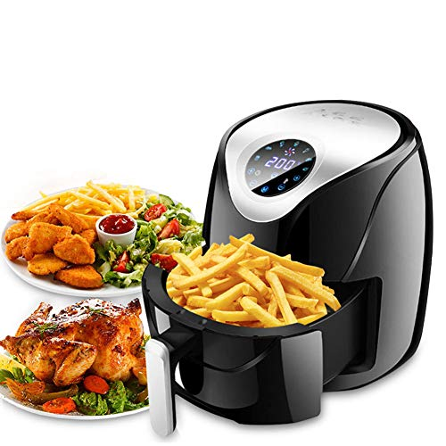 FZ-Kostum 5.3-Quarts Air Oven with Temperature Control, 1500W Electric Air Fryer Oven with Smart Touch LCD, Air Fryer Pizza Multi Function Smart Fryer for French Fries