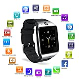HAMSWAN Smartwatch Bluetooth, LG118 Smartwatch di Bluetooth con la Macchina Fotografica Tutto in 1 Orologio per Android Samsung Galaxy Note, Nexus, HTC, Sony (Argento e Grigio d'arma)