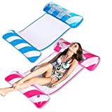 Zoetime 2 Pack Portable Water Hammock, 4-in-1 Multi-Purpose Hammock Inflatable Pool Float, Size 53.6' X30.7' X 3.95' Multi-Purpose Pool Hammock (Saddle, Lounge Chair, Hammock, Drifter) for Adults