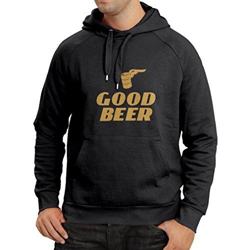 lepni.me Kapuzenpullover Ich Brauche EIN gutes Bier, Geschenk für Bierliebhaber Partykleidung (Large Schwarz Gold)