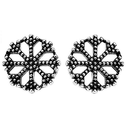 AQILA dames oorstekers sneeuwvlok 925 zilver