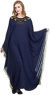 Batwing Abaya Dress Women Elegant Islamic Muslim Kaftan Abaya Lace Maxi Party Wedding Cocktail Evening Gown