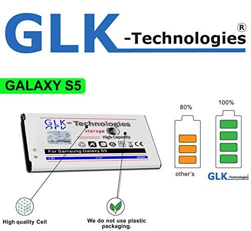 !BLITZVERSAND! Original GLK-Technologies® 3000 mAh Akku passend für Samsung Galaxy S5 EB-BG900BBC EB-BG900BBE 2020!
