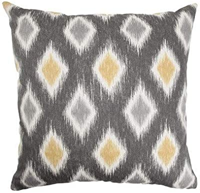 The Pillow Collection Faela Geometric Bedding Sham Black//Brown Queen//20 x 30