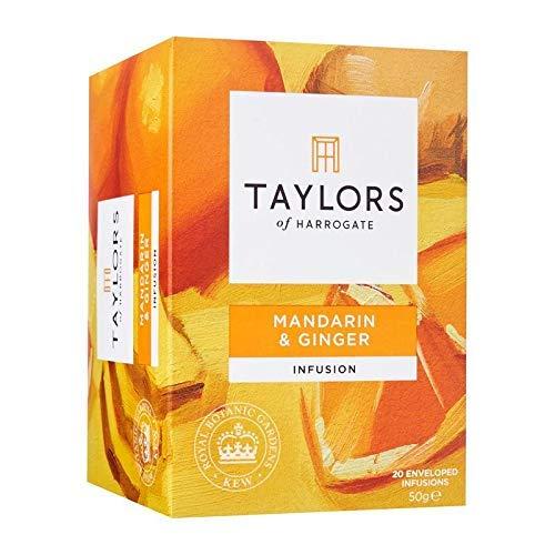 Taylors of Harrogate Infusion de mandarina y jengibre sin cafeina - 1 x 20 bolsitas de te (50 gramos)