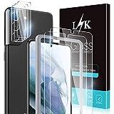 LϟK 5 Pezzi Vetro Temperato per Samsung Galaxy S21 Plus 5G 6.7 Pollice - 2 Pezzi Pellicola Protettiva + 3 Pezzi Fotocamera Posteriore Pellicola 9H Durezza Schermo Protettivo con KitD'Installazione