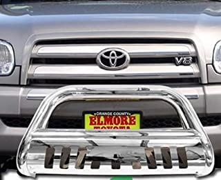 R&L Racing Chrome Hammered Stainless Steel Bull Bar Brush Bumper Grille Guard For Toyota Sequoia