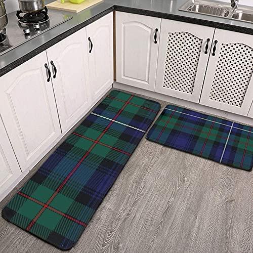Tappeti da cucina imbottita anti-fatica tappetino da cucina, robertson caccia tartan tappetini da cucina antiscivolo e tappeti morbidi flanella antiscivolo tappeti corridore, tappetino da banco standi